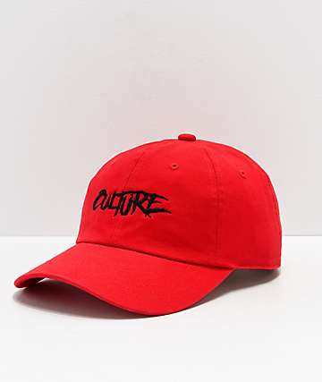 YRN Culture Red Strapback Hat