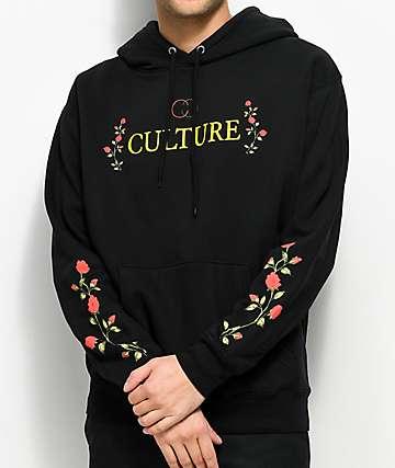 YRN Culture Roses Black Hoodie