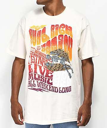 YRN Festival camiseta blanquecina