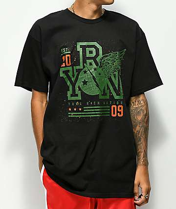 YRN Global Force Black T-Shirt