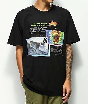YRN Keys & Heat Waves camiseta negra