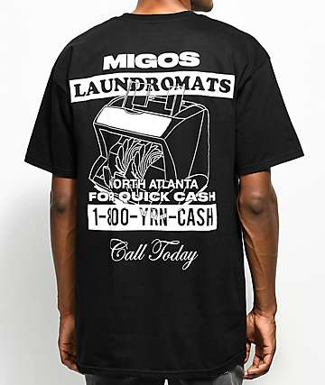 YRN Laundromats Black T-Shirt