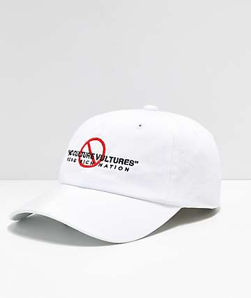 YRN No Culture Vultures White Strapback Hat