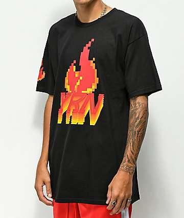 YRN Pixel Flame camiseta negra
