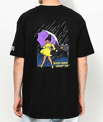YRN Rain Drop Drop Top camiseta negra