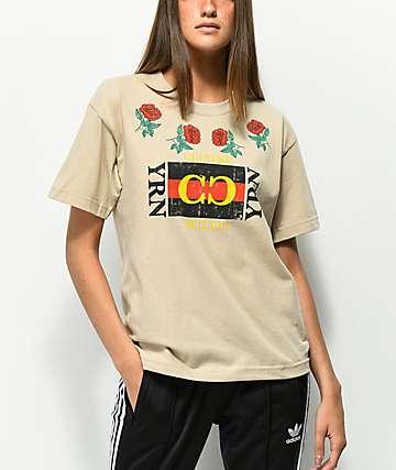 YRN Rose Frame camiseta blanquecina de manga larga