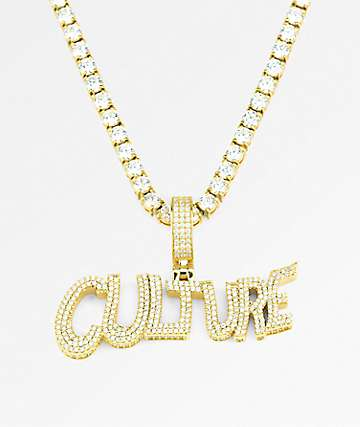 Necklaces zumiez yrn x the gold gods limited edition culture gold chain necklace aloadofball