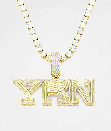 Necklaces zumiez yrn x the gold gods limited edition gold chain necklace aloadofball