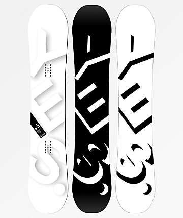Yes. Basic 155 tabla de snowboard en negro y blanco