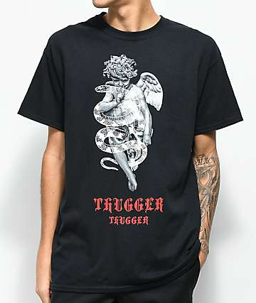 Young Thug Thugger Angel Snake Black T-Shirt