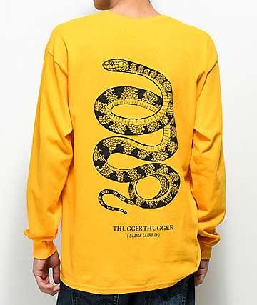 Young Thug Thugger Snake camiseta amarilla de manga larga