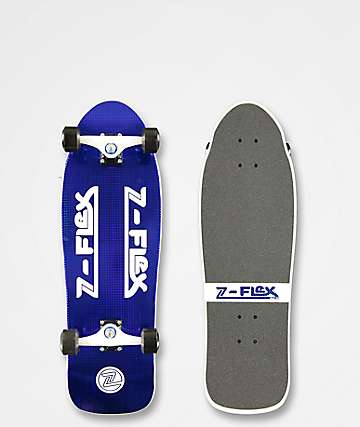 "Z-Flex 80s Blue Crystal 31"" Cruiser Skateboard Complete"
