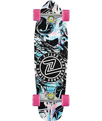 "Z-Flex Acid Swirl Black 29""  Cruiser Complete Skateboard"