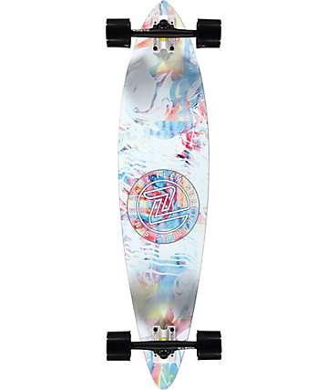 "Z-Flex Acid Swirl White 38"" pintail longboard completo"