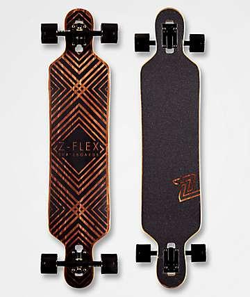 """Z-Flex Black Diamond 41"""" Double Drop Longboard Complete"""