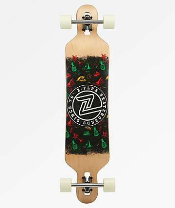 Z-Flex Island Time Drop Through Longboard Complete