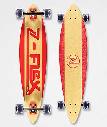 """Z-Flex Moving Sidewalk Red 38"""" Longboard Complete"""
