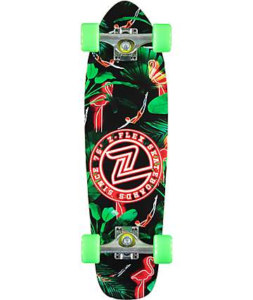 "Z-Flex Neon Flamingo 27.5"" skateboard cruiser completo"