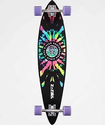 """Z-Flex Tie Dye 38"""" Pintail Longboard Complete"""