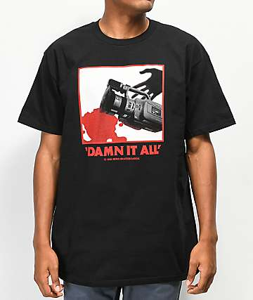 Zero Damn It All Black T-Shirt