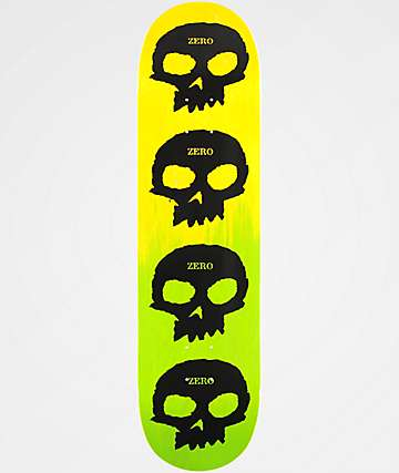 "Zero Multi-Skull Pricepoint 8.25"" Skateboard Deck"