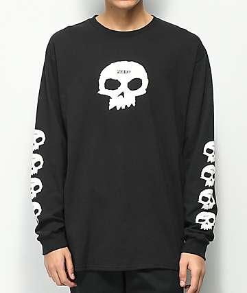 Zero Multi Skull camiseta negra de manga larga