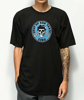Zero Shut Up & Skate camiseta negra