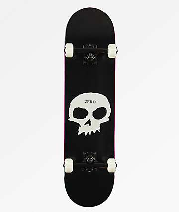 "Zero Single Skull 8.0"" Skateboard Complete"