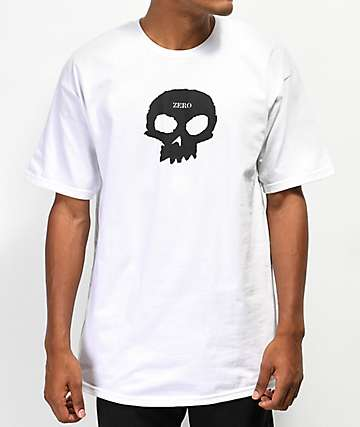 Zero Single Skull White T-Shirt