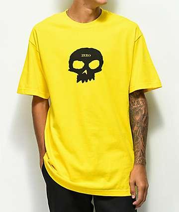 Zero Single Skull camiseta dorada