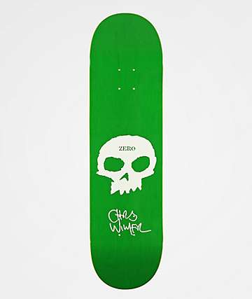 "Zero Wimer Single Skull 8.375"" Skateboard Deck"