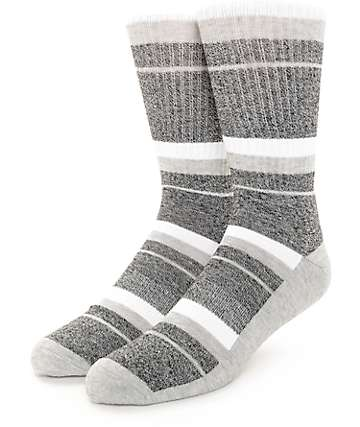 Zine 10 Feet Tall Black, Grey & White Crew Socks