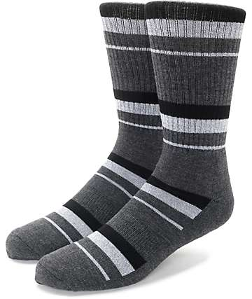 Zine 10 Feet Tall Black & Charcoal Crew Socks