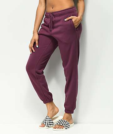Zine Adalia Burgundy Sweatpants