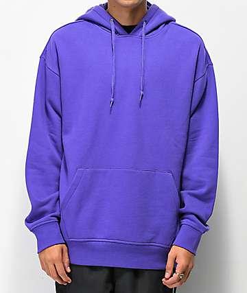 Zine Alt sudadera violeta con capucha