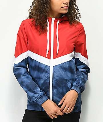 Zine Amara chaqueta cortavientos con efecto tie dye