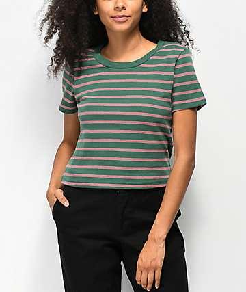 Zine Barnaby camiseta de rayas verdes, blancas y rojas