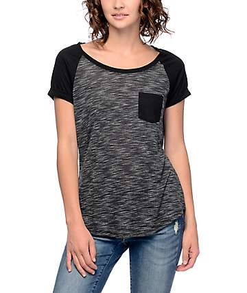 Zine Bartlett Black Raglan T-Shirt