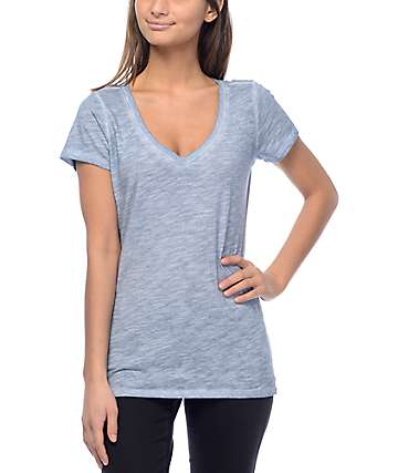 Zine Beta Ashley Blue V-Neck T-Shirt