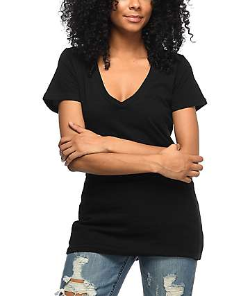 Zine Beta V-Neck Black T-Shirt