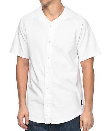 Zine Bonds White Baseball Jersey