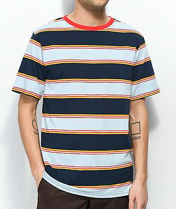 Zine Bonus Navy & Light Blue Striped T-Shirt