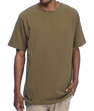 Zine Boxed Olive Boxy Fit T-Shirt