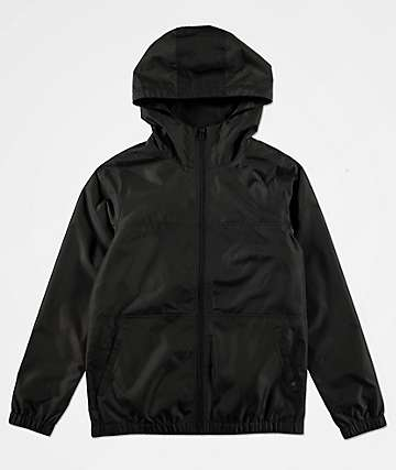 Zine Boys Course Black Windbreaker Jacket