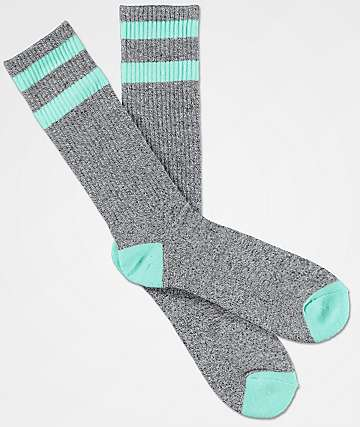 Zine Brawney calcetines en gris y menta