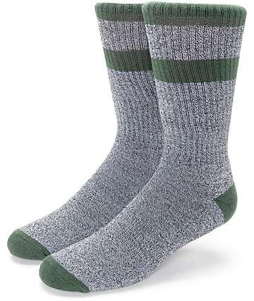 Zine Brawny Olive & Charcoal Crew Socks
