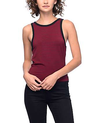 Zine Bunn camiseta sin mangas en rojo y negro