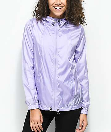 Zine Calla Lavender Full Zip Windbreaker Jacket