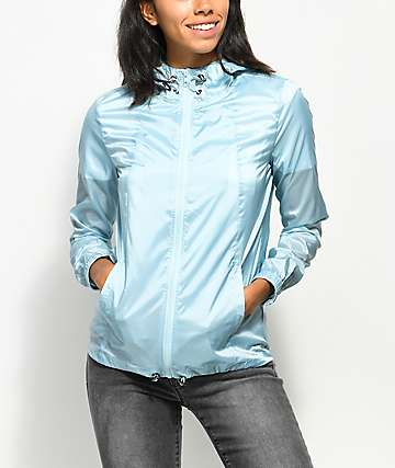Zine Calla Light Blue Iridescent Windbreaker Jacket