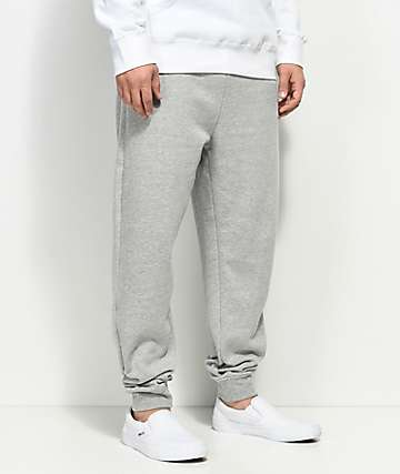 Zine Cap Athletic Grey Fleece Jogger Pants